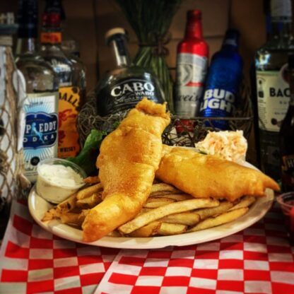 Plate with Fish and Chips